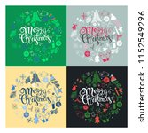 set christmas greeting cards... | Shutterstock . vector #1152549296