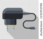 phone charger icon in flat... | Shutterstock .eps vector #1152551930