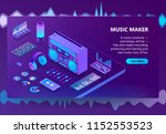 music maker vector illustration ... | Shutterstock .eps vector #1152553523