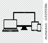 electronic devices icons on... | Shutterstock .eps vector #1152555386