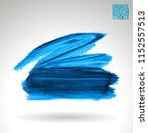 blue brush stroke and texture.... | Shutterstock .eps vector #1152557513