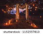 night wedding ceremony with a... | Shutterstock . vector #1152557813