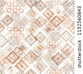 seamless pattern with square... | Shutterstock . vector #1152560843