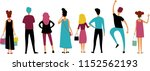 a group of people in colored... | Shutterstock .eps vector #1152562193