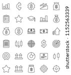 thin line vector icon set  ... | Shutterstock .eps vector #1152563339