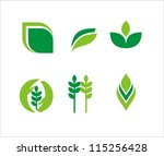 leaves. elements for design.... | Shutterstock .eps vector #115256428
