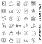 thin line vector icon set  ... | Shutterstock .eps vector #1152567026