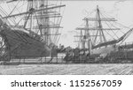 sailboats and boats in seaport...   Shutterstock . vector #1152567059