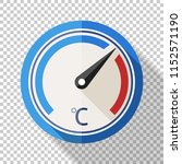 thermometer icon in flat style... | Shutterstock .eps vector #1152571190