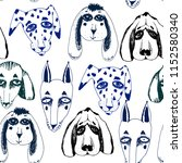 vector naive hand drawn breed... | Shutterstock .eps vector #1152580340