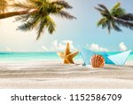 summer beach and free space for ... | Shutterstock . vector #1152586709
