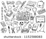 back to school with hand drawn... | Shutterstock .eps vector #1152588083