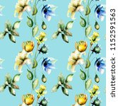 seamless pattern with tulips... | Shutterstock . vector #1152591563
