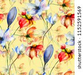 seamless wallpaper with spring... | Shutterstock . vector #1152591569