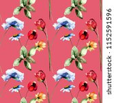 seamless pattern with stylized... | Shutterstock . vector #1152591596
