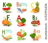 food sources of different... | Shutterstock .eps vector #1152591656