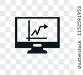 stats vector icon isolated on... | Shutterstock .eps vector #1152591953