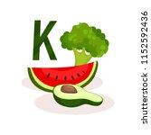 vitamin k food sources slice of ... | Shutterstock .eps vector #1152592436