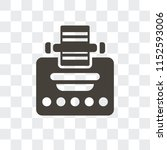 typewriter vector icon isolated ... | Shutterstock .eps vector #1152593006