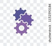 cogwheel vector icon isolated... | Shutterstock .eps vector #1152593186