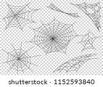 web spider cobweb icons set.... | Shutterstock .eps vector #1152593840