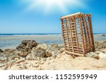 beautiful seashore vacation on... | Shutterstock . vector #1152595949
