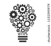gear bulb idea and innovation... | Shutterstock .eps vector #1152595979