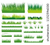 green grass vector | Shutterstock .eps vector #1152596030