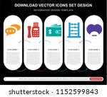 5 vector icons such as... | Shutterstock .eps vector #1152599843