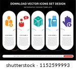 5 vector icons such as... | Shutterstock .eps vector #1152599993