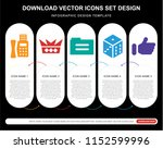 5 vector icons such as fax... | Shutterstock .eps vector #1152599996
