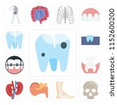 set of 13 simple editable icons ... | Shutterstock .eps vector #1152600200