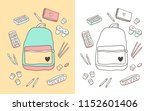 cute hand drawn school backpack ... | Shutterstock .eps vector #1152601406