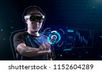 using vr glass to enter virtual ... | Shutterstock . vector #1152604289