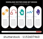 5 vector icons such as plaster  ... | Shutterstock .eps vector #1152607463