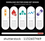 5 vector icons such as blood... | Shutterstock .eps vector #1152607469