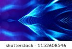 blue particles form line and... | Shutterstock . vector #1152608546