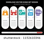 5 vector icons such as shooting ... | Shutterstock .eps vector #1152610346