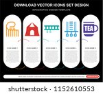5 vector icons such as... | Shutterstock .eps vector #1152610553