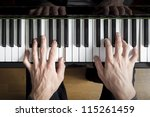 An Image Of A Piano Playing...