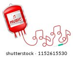 blood bag red color with music... | Shutterstock .eps vector #1152615530