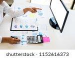 businessman working together... | Shutterstock . vector #1152616373