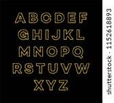 golden glitter alphabet font...   Shutterstock .eps vector #1152618893