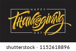 thanksgiving typography for... | Shutterstock .eps vector #1152618896