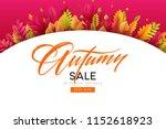 banner for autumn sale in frame ... | Shutterstock .eps vector #1152618923
