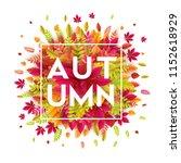 hello autumn. different colored ...   Shutterstock .eps vector #1152618929