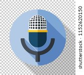 microphone icon in flat style... | Shutterstock .eps vector #1152620150