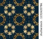 golden pattern on blue  brown...   Shutterstock .eps vector #1152620786