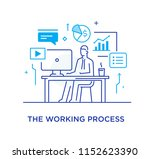 businessman at workplace... | Shutterstock .eps vector #1152623390