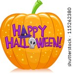 halloween illustration of a... | Shutterstock .eps vector #115262380